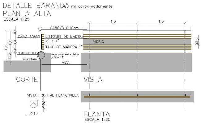 Rail detail dwg file