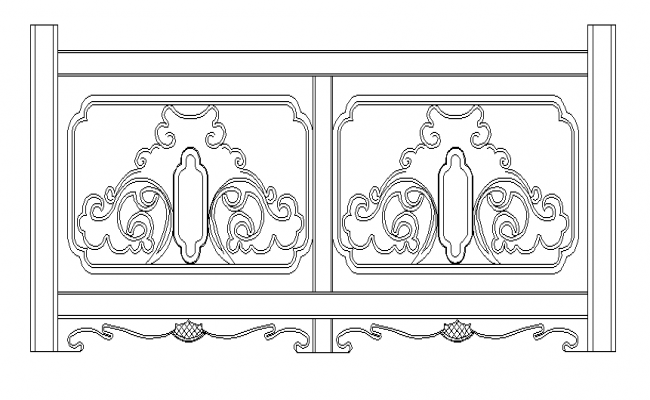 Railing designs in chinese style