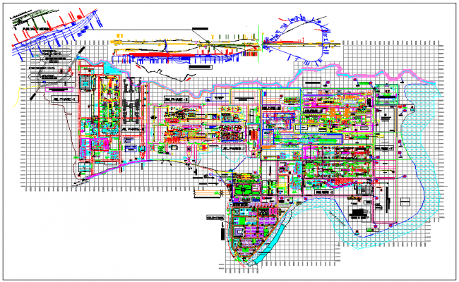 Railway line cial phase layout drawing plan dwg file