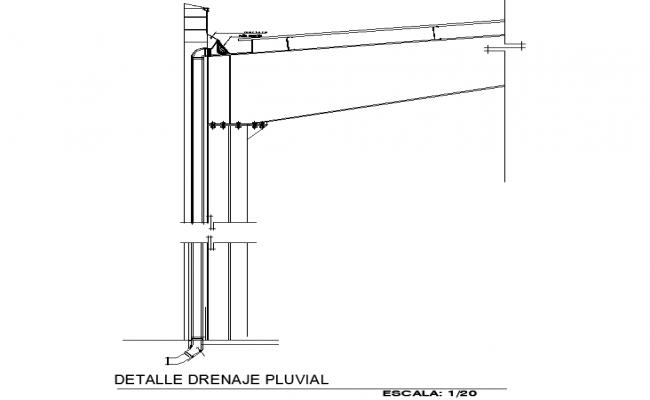 Rainwater drainage detail dwg file
