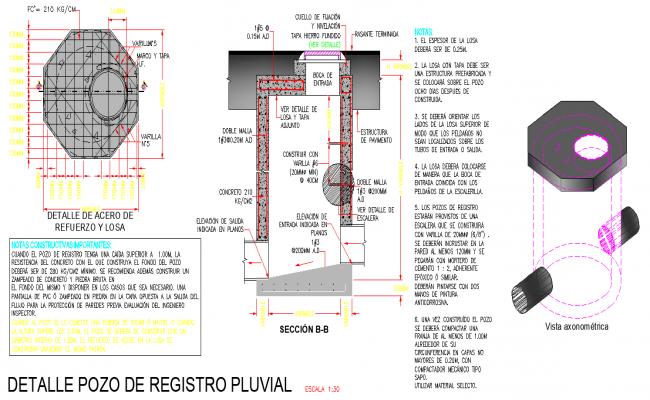 Rainwater well plan autocad file