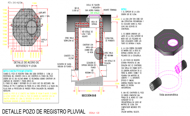 Rainwater well plan autocad file