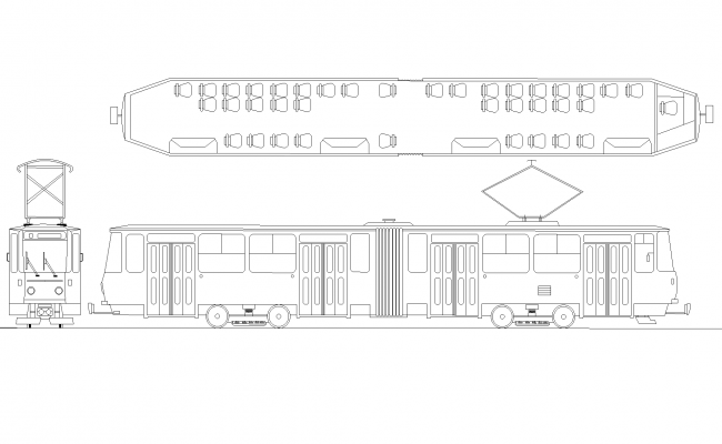 Train Layout In AutoCAD Drawing