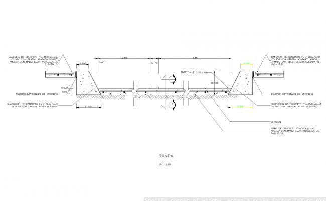 Ramp plan detailed dwg.