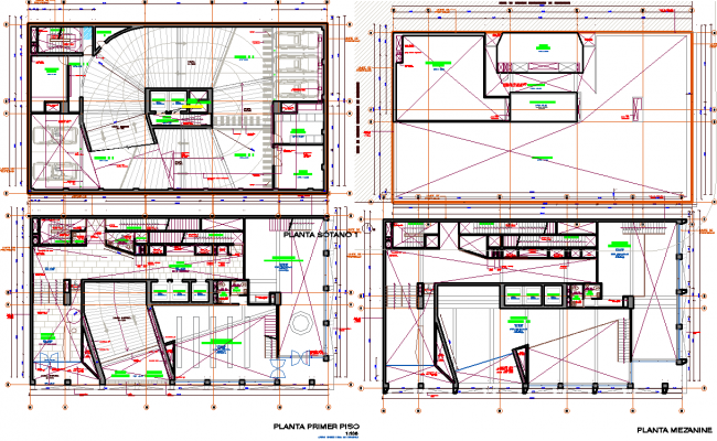 Ramp plan working detail dwg file