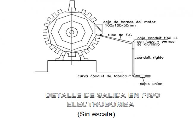 Ratio shape motor detail dwg file