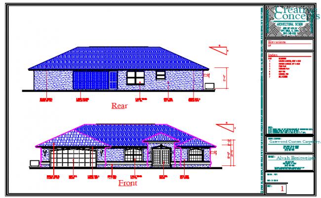Rear & Front Side Elevation design