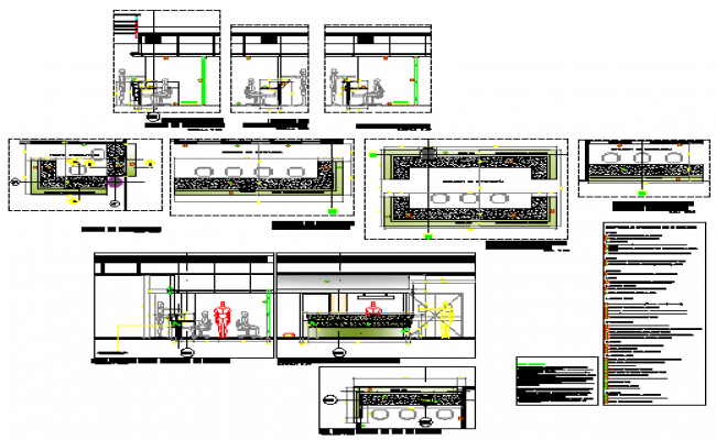 Reception equipment detail design drawing