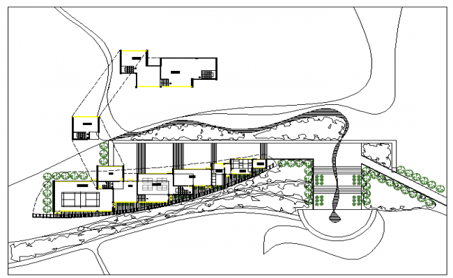 Recreation centre building Lay-out