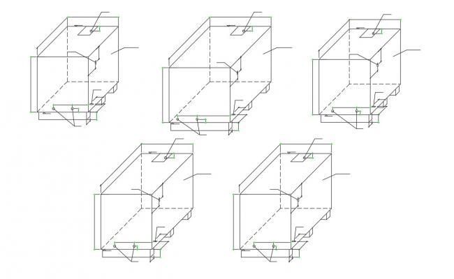 Rectangular Box Design Isometric view CAD File