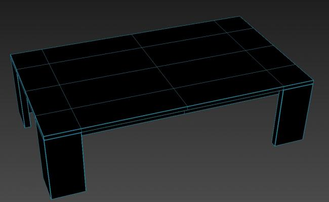 Rectangular center table Rendered in 3D MAX File Free Download