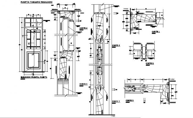 Reducer door panel and installation cad drawing details dwg file