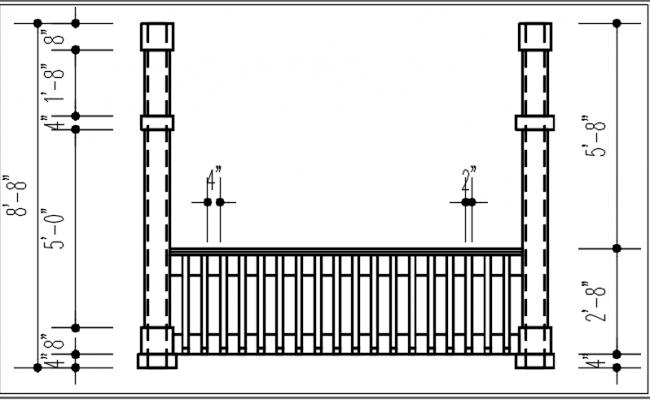 Reeling elevation detail dwg file
