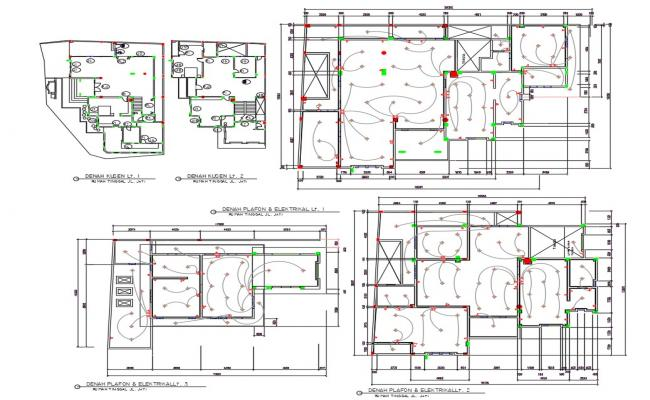 Reflected Ceiling Floor Layout Plan AutoCAD File