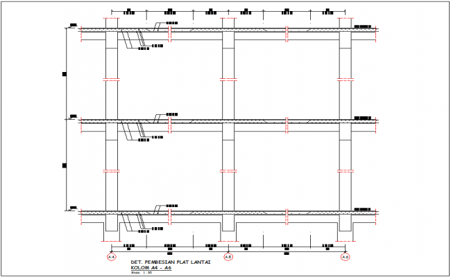 Refrigeration of floor plate column A-4 and A-6 for government building dwg file