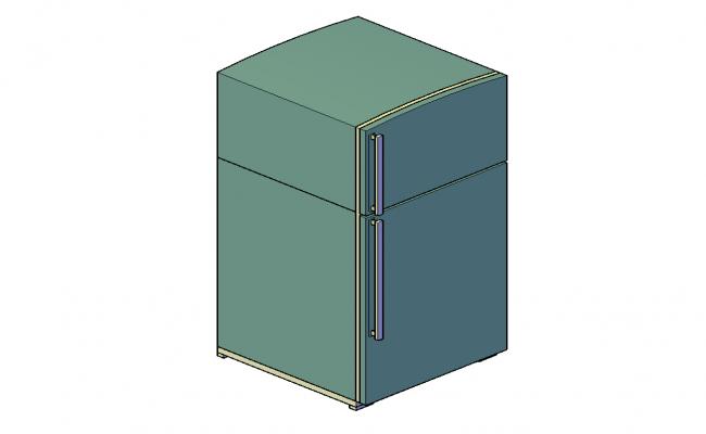 Refrigerator 3d model CAD furniture autocad file