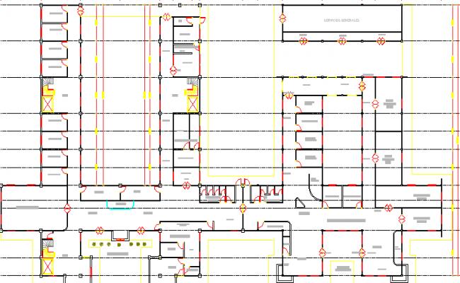 Regional City Hospital Structure Details dwg file