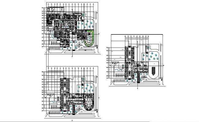 Regional hospital floor plan layout cad drawing details dwg file