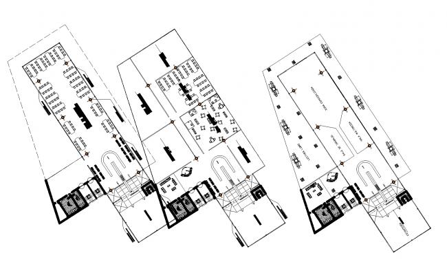Regional library plan detail dwg file,