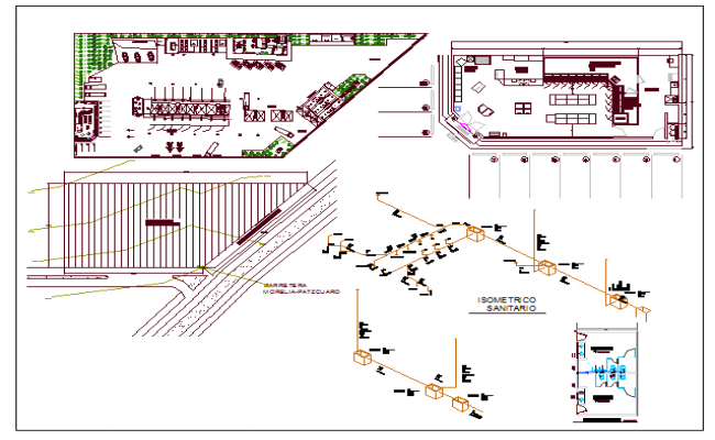 Regional university detailed architecture project dwg file