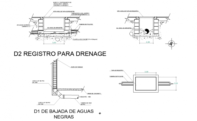 Registration for drainage section plan detail dwg file