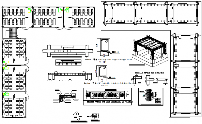 Reinforced concrete section plan detail dwg file
