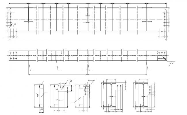 Reinforcement Beam Steel Design AutoCAD File