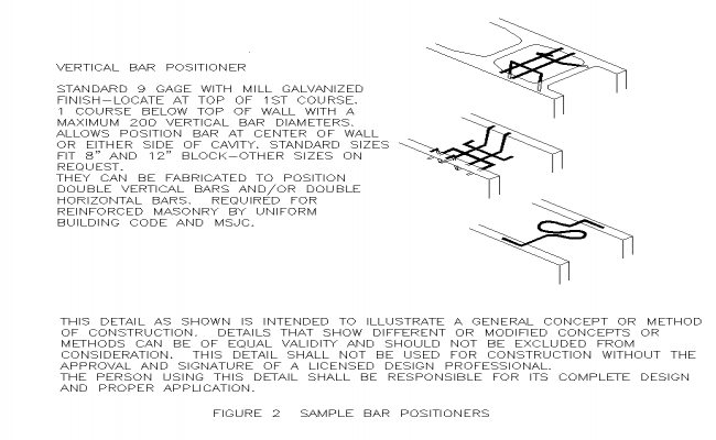 Reinforcement bar positioned detail structure autocad file