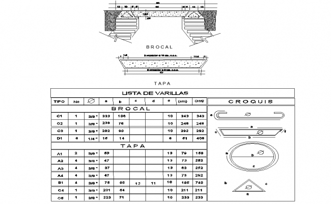 Reinforcement bolt nut table autocad file