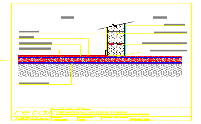 Reinforcement detail at first course design drawing
