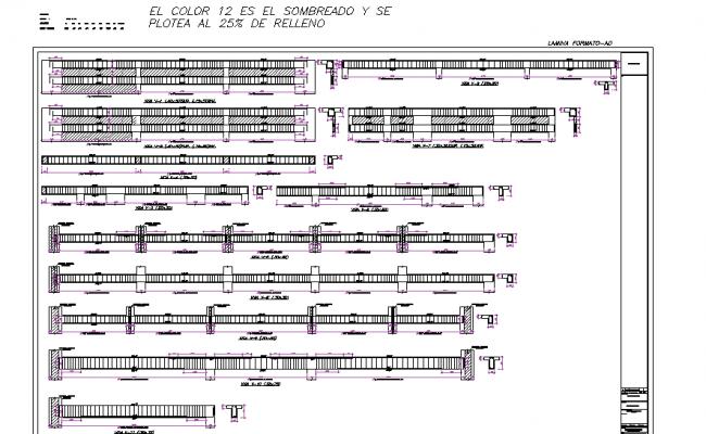Reinforcement detail dwg file