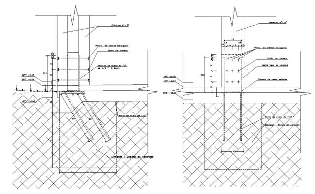 Reinforcement section plan autocad file