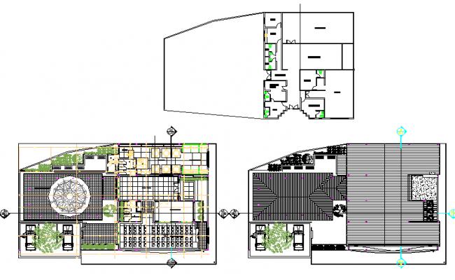 Remodeling cultural center plan detail dwg file