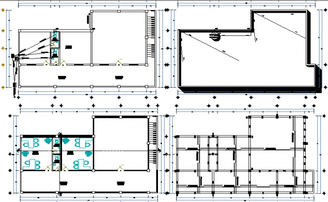 Representation house general floor layout plan details dwg file