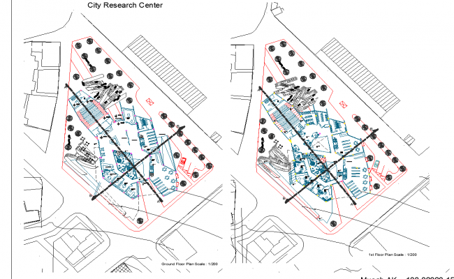 Research center campus of turkey dwg file