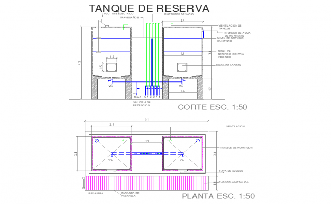 Reserve Tank detail in Cad File