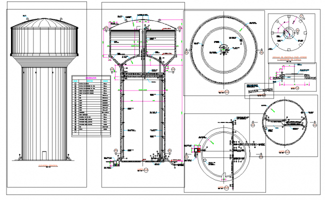 Reservoir high water installations plan layout file