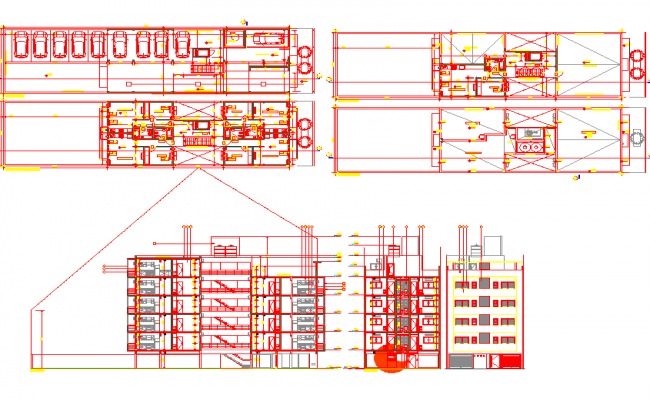 Residence Apartment plan with Detailing