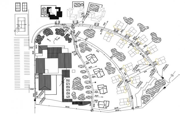 Residence Area Design Layout Plan