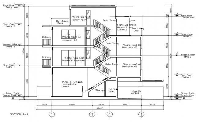 Residence Building Section Plan