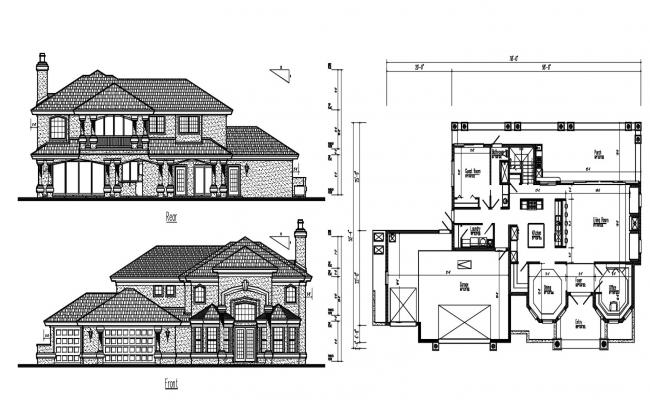 Residence Bungalow CAD drawing