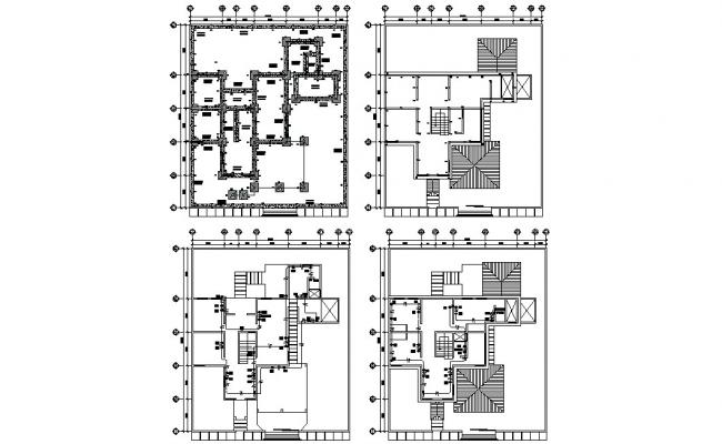 Residence Bungalow Foundation and Design Plan CAD File