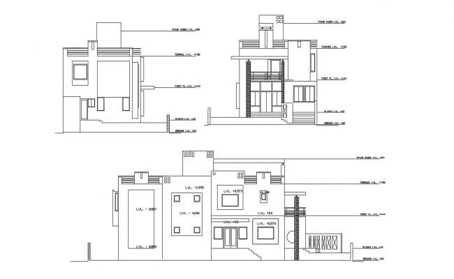 Residence Elevation CAD Drawing
