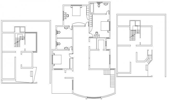 Residence Floor Plan AutoCAD File