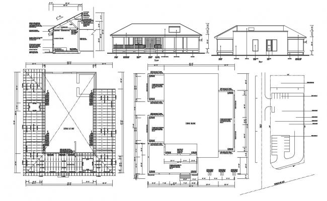 Residence House Project 2d AutoCAD Drawing