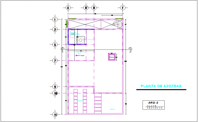 Residence architectural 2 ceiling plan dwg file