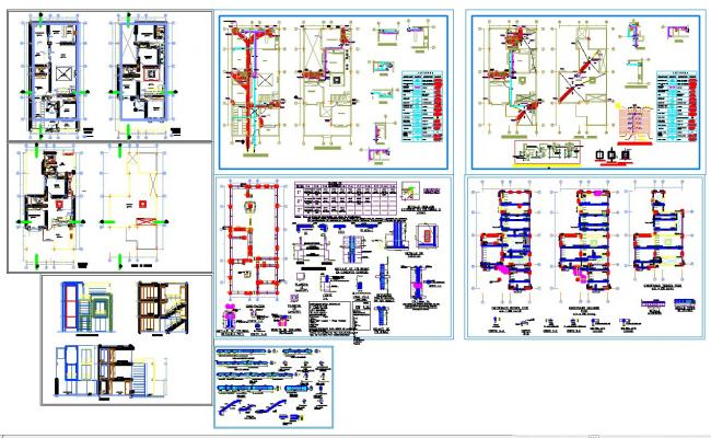Residence house architecture plan and detail in autocad for House cad file