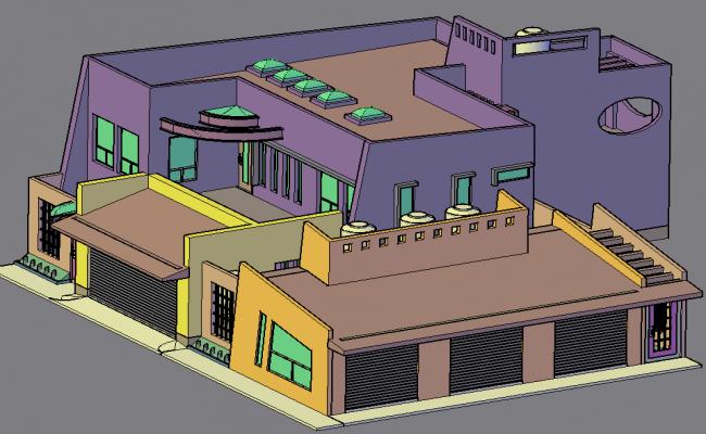 Residence in 3 d plan detail