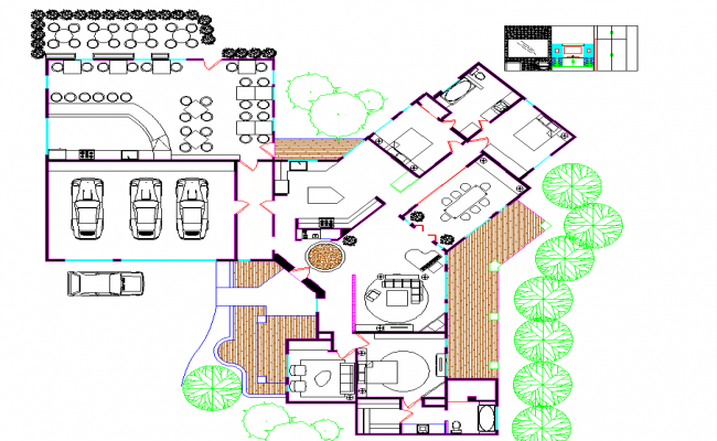 Residence with cafeteria plan