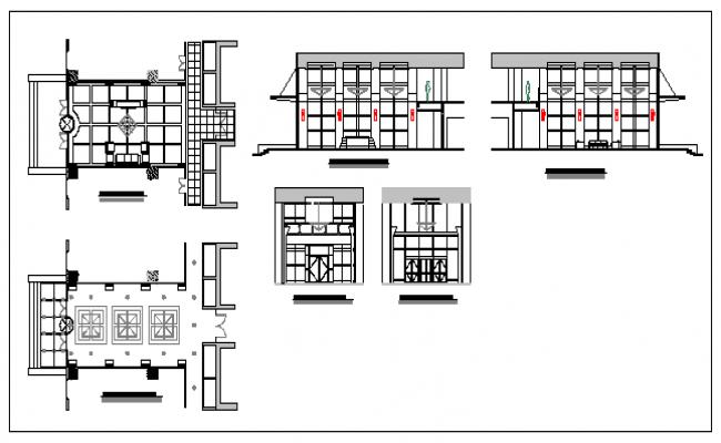 Residency lobby detail design drawing